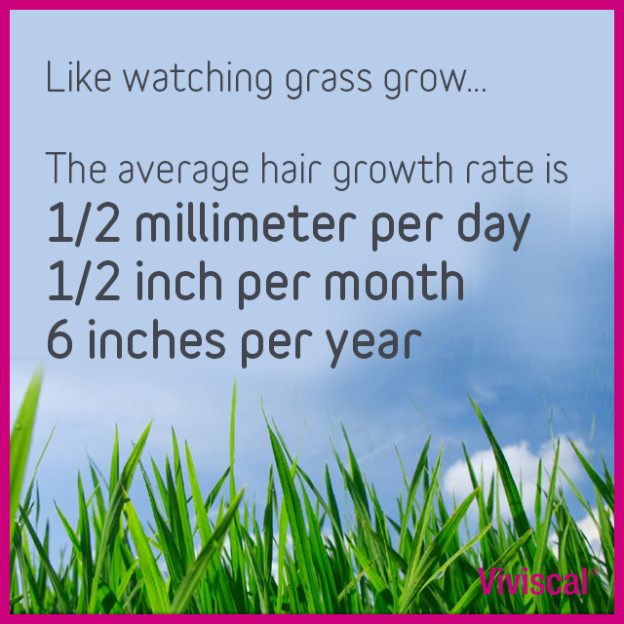How to speed up hair growth based on average hair growth rates.