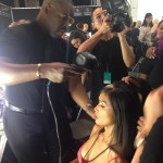 Ted Gibson styles hair for Carmen Marc Valvo show at New York Fashion Week