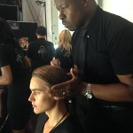 Ted Gibson creates runway-ready hair at backstage at New York Fashion Week