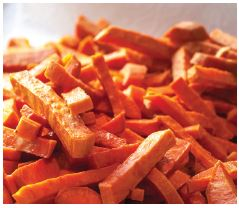 healthy hair recipes - sweet potato fries