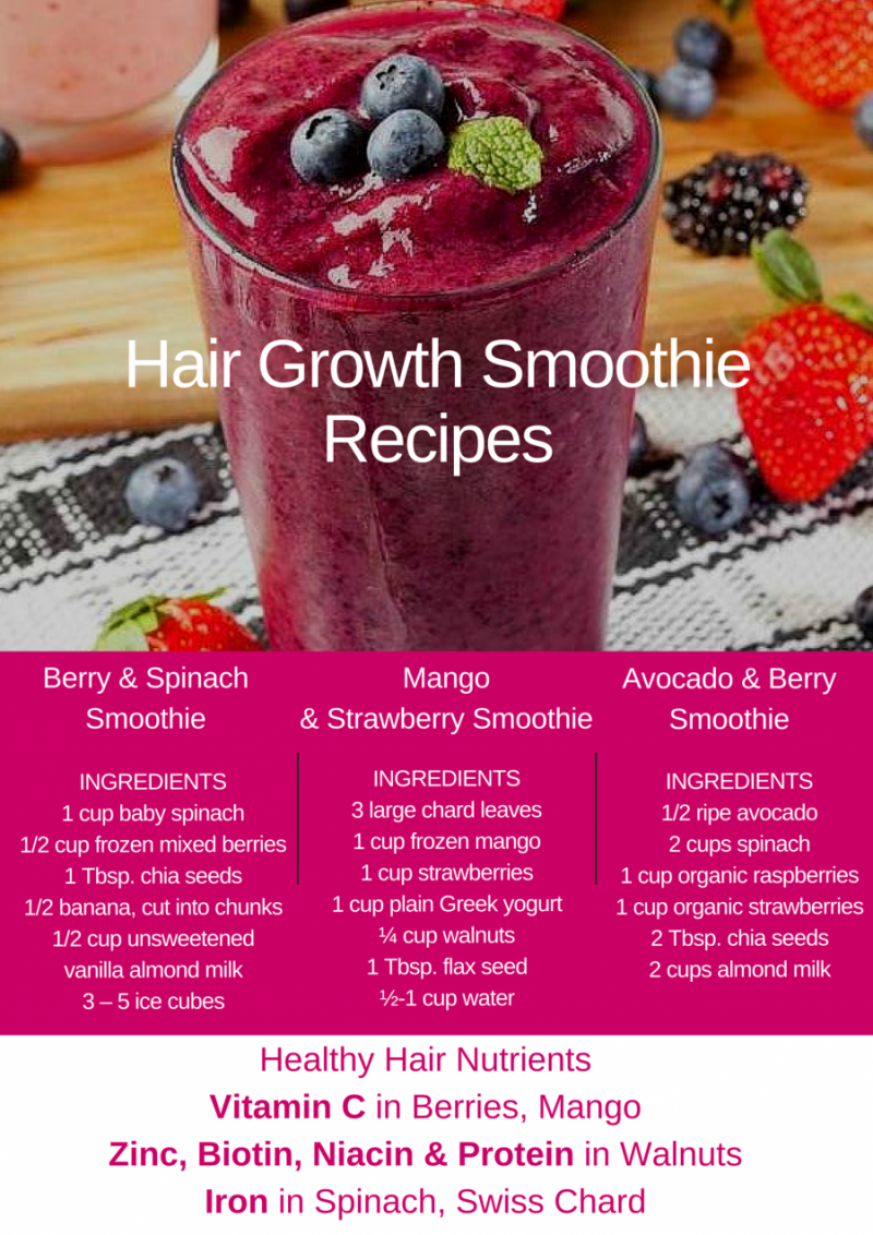 hair growth smoothie recipes
