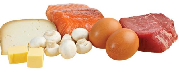 Vitamin D in foods for hair growth