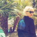 Taylor Swift with bleached hair at Coachella