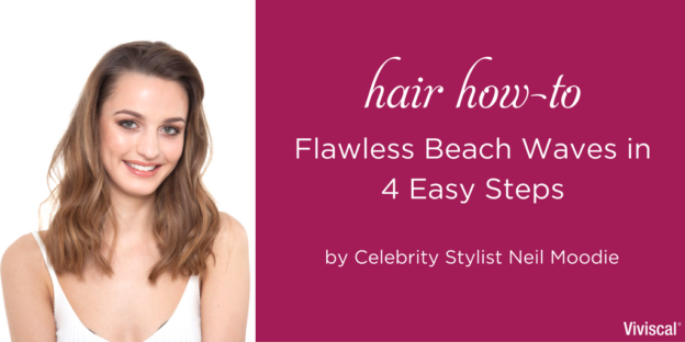 Beach Waves Hair Tutorial by UK hairstylist Neil Moodie
