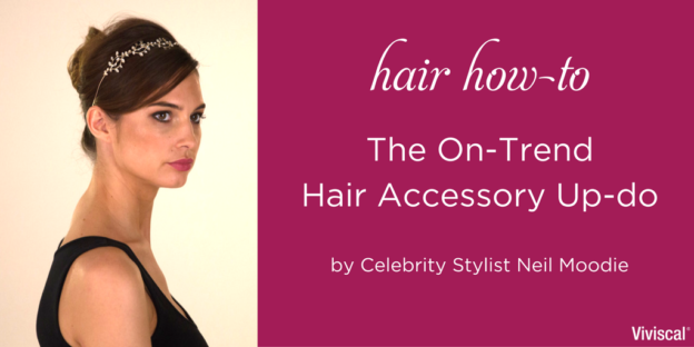 hair how-to accessory up-do hairstyle by Neil Moodie