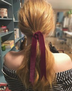 low-ponytail-velvet-ribbon-holiday-hairstyles