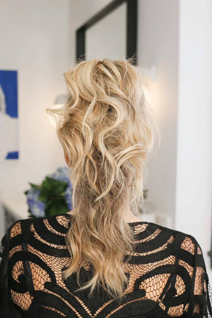 Molly Sims Modern Ponytail Hairstyle How To Tutorial Summer Hair