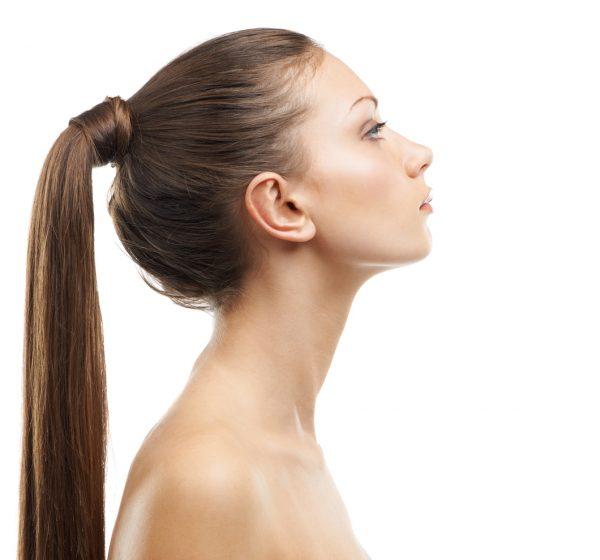 ponytail sleek woman brunette side view hairstyle best simple hairstyles long hair viviscal blog