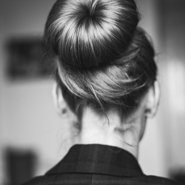 sock bun updo chignon hairstyle best simple hairstyles long hair viviscal blog