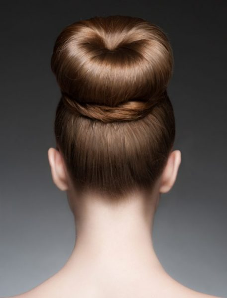 woman back thick elegant classic chignon hairstyle quick easy hairstyles viviscal hair blog