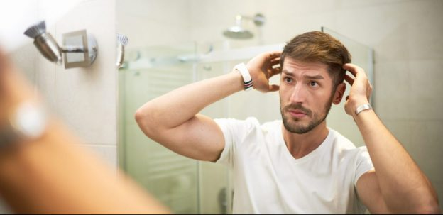 man styling hair mirror top hair styling product men viviscal hair blog
