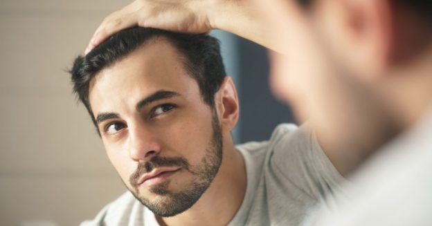 man mirror receding hairline male hair loss causes prevention viviscal hair blog