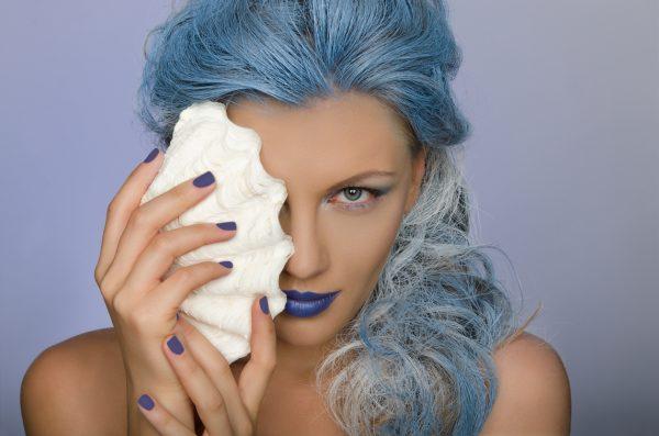 blue hair mermaid seashell halloween costume hair temporary hair color viviscal hair blog