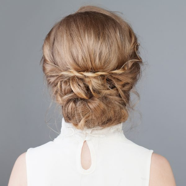 back twisted faux chignon hairstyle our favorite heatless hairstyles viviscal hair blog