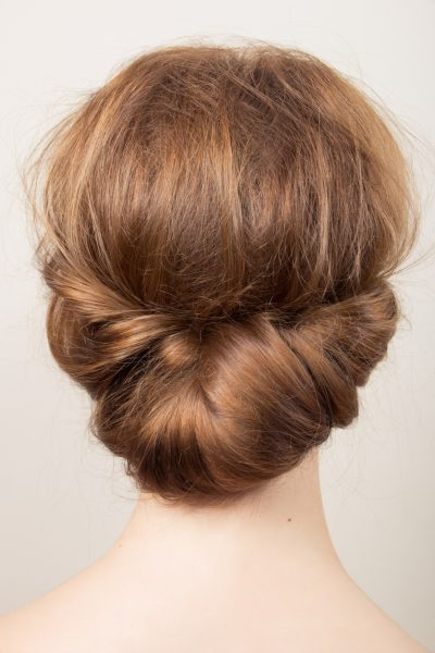 back hairstyle bun elegant gibson tuck updo style tips for perfect wet curls viviscal hair blog
