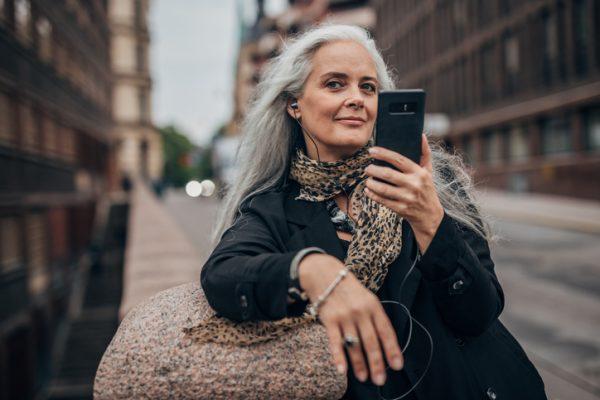 embracing gray hair